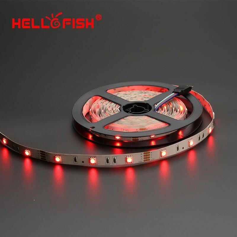 Hola Peces 5 M 12 V 5050 tira del RGB LED, 150 LED Kit de cinta + 24/44 regulador alejado dominante kit de Cinta LED Flexible