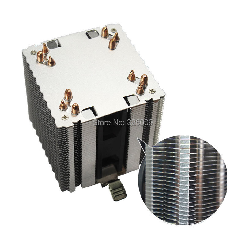 High quality 4PIN CPU cooler 115X 1366 2011,6 heatpipe dual-tower cooling