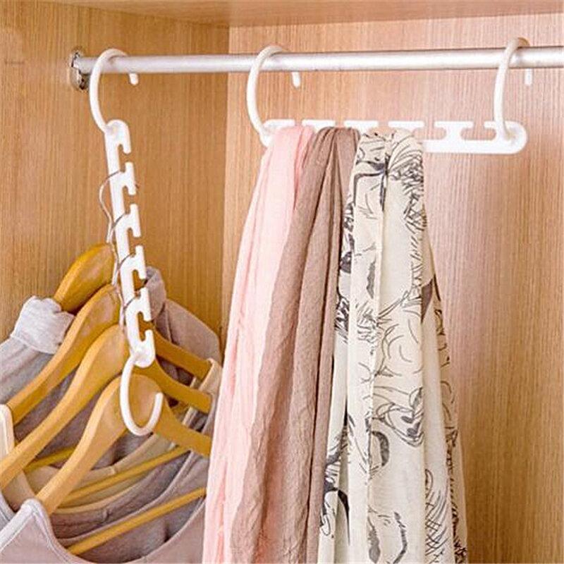 Delidge 1 pc Platzsparende Kleiderbügel Kunststoff Kleiderbügel Haken Magie Kleiderbügel Mit Haken Closet Organizer