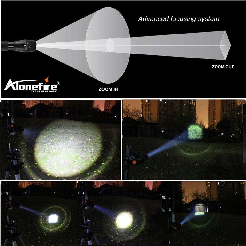 Aleefire-linterna LED de alta potencia G700 CREE XML T6 L2 U3, linterna con Zoom táctico zaklamp de viaje, batería recargable 18650