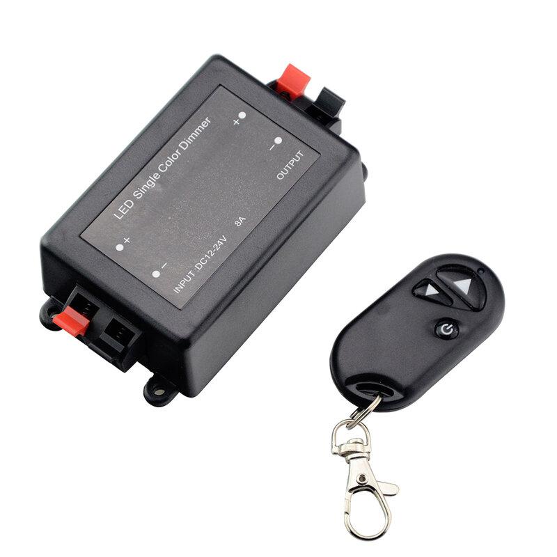 Dc 12 v-24 v 8a led 단일 색상 조 광 기 rf 원격 컨트롤러 밝기 제어 led 스포트 램프에 대 한 recessed 스트립 빛