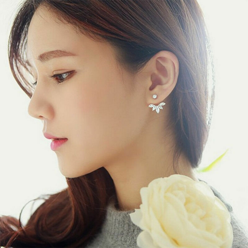 Coréen or laisser cristal boucles d'oreilles mode déclaration bijoux boucles d'oreilles pour les femmes