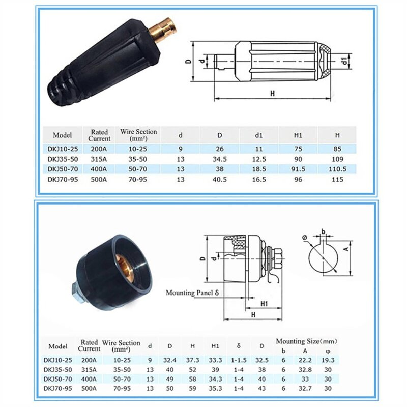 Quick Fitting Cable connector-Plug+Socket DKJ10-25 /& DKZ10-25 Welding Machis4