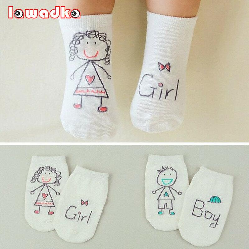 2020 neue Frühjahr Baby Socken Neugeborenen Baumwolle Jungen Mädchen Nette Kleinkind Asymmetrie Anti-slip Socken
