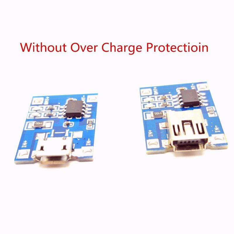 1-10 stücke Micro USB 5 V 1A 18650 TP4056 Lithium-Batterie Li-Ion Ladegerät Modul Lade Board Mit oder ohne schutz Funktionen