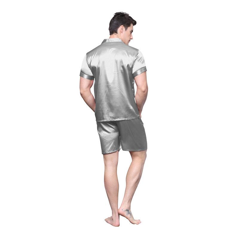 Lose Nachtwäsche Hose S-XL Emulationsseide Weich Damen Seide Satin Pyjama