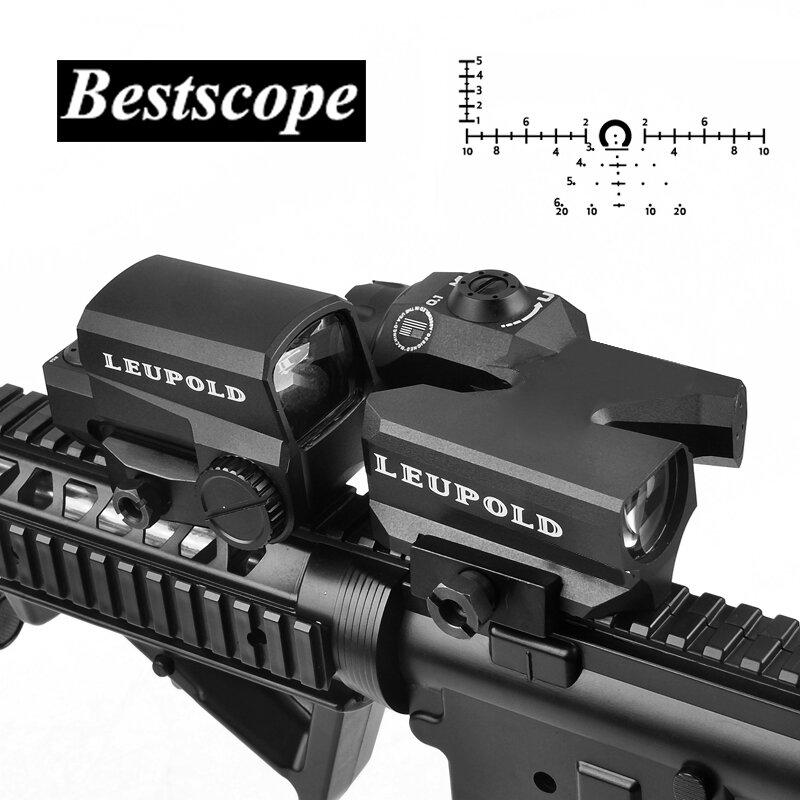 US 4x32 Riflescope Reticle Sniper Red Dot Fiber Optic Sight Rifle Scope Airsoft