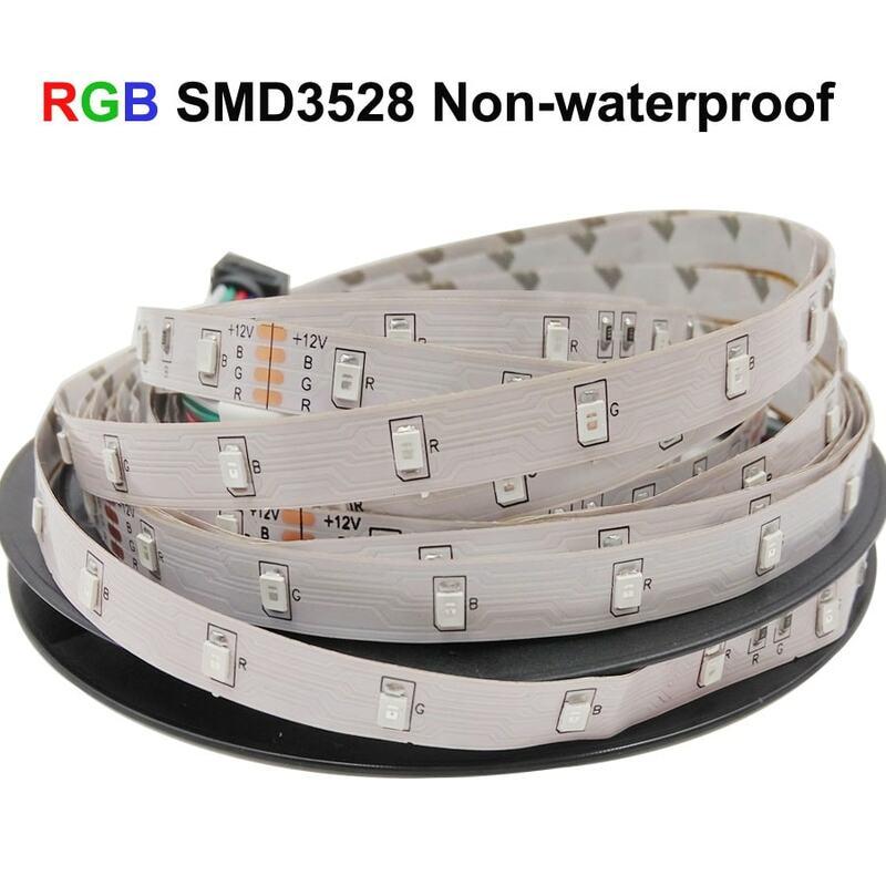 5m 10m 15m 20m SMD 2835 RGB HA CONDOTTO LA luce di Striscia flessibile LED tape diodo nastro impermeabile 220V 24key regolatore DC 12V adattatore set