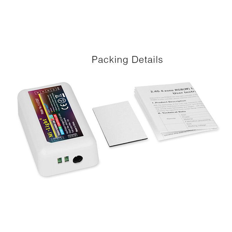 Mando a distancia RGB para tira de luces led, controlador regulable RF Wifi, 2,4G, 4 zonas, luz Mi inalámbrica
