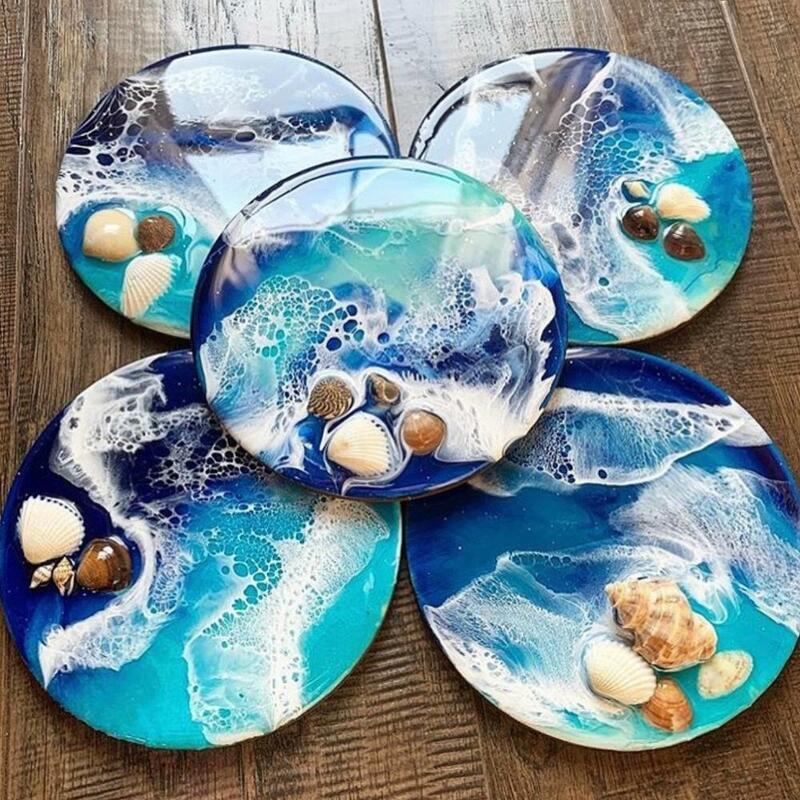 Fluid Artst Round Petri Dish Silicone Mold Round Coaster ...
