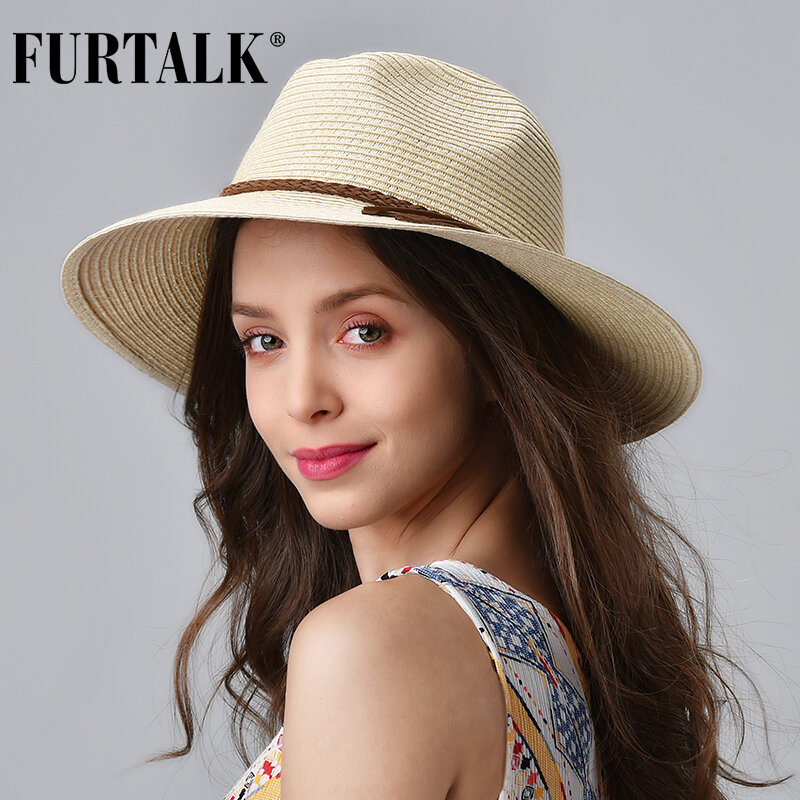 Small Flower Headband Straw Sun Hats Women Wide Brim Beach Cap Summer Sun Visor Hat Panama Jazz Hats,Pink Straw Panama