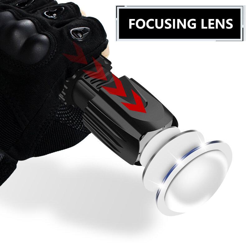 Super Bright LED lampe de Poche Tactique Réglable Zoom 5 Modes D'éclairage Led Torche Utiliser Rechargeable 18650 Batterie