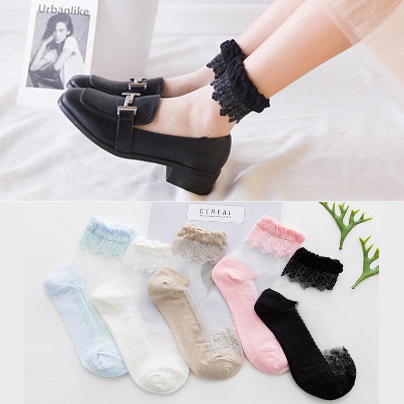 10 Pairs Ladies Nylon Elastic Short Ankle Sheer Stockings Silk Short Socks NUDE