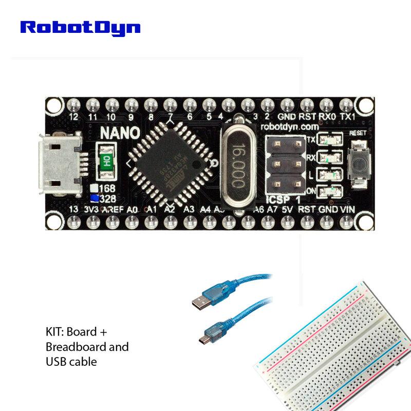 Nano CH340/ATmega328P MicroUSB, pin saldati. Compatibile con Arduino Nano V3.0