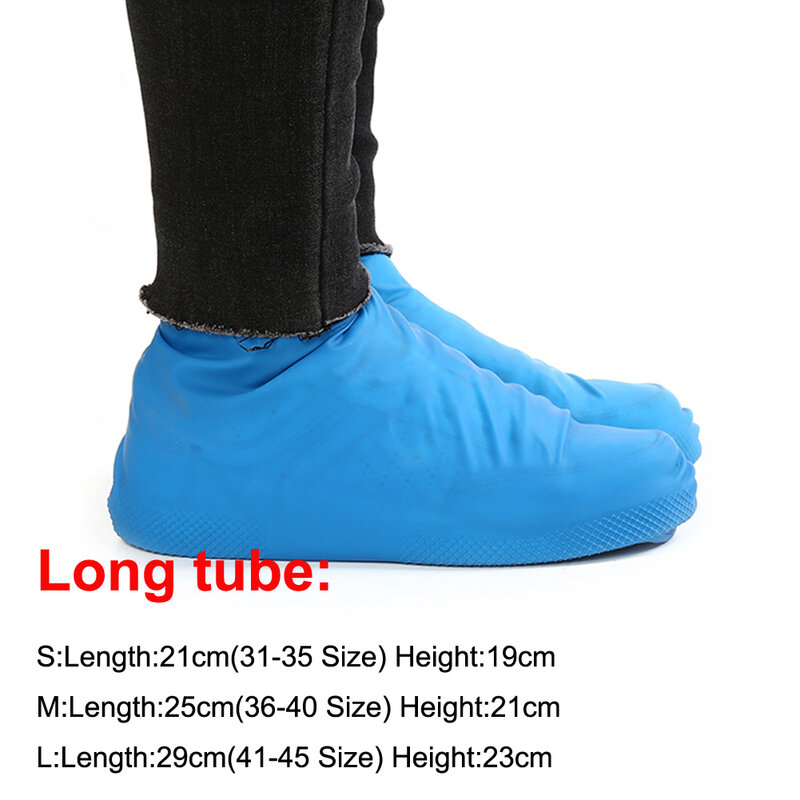 Reusable Waterproof Shoe Covers Washable Elastic Band Overshoes Non Slip 1Pairs