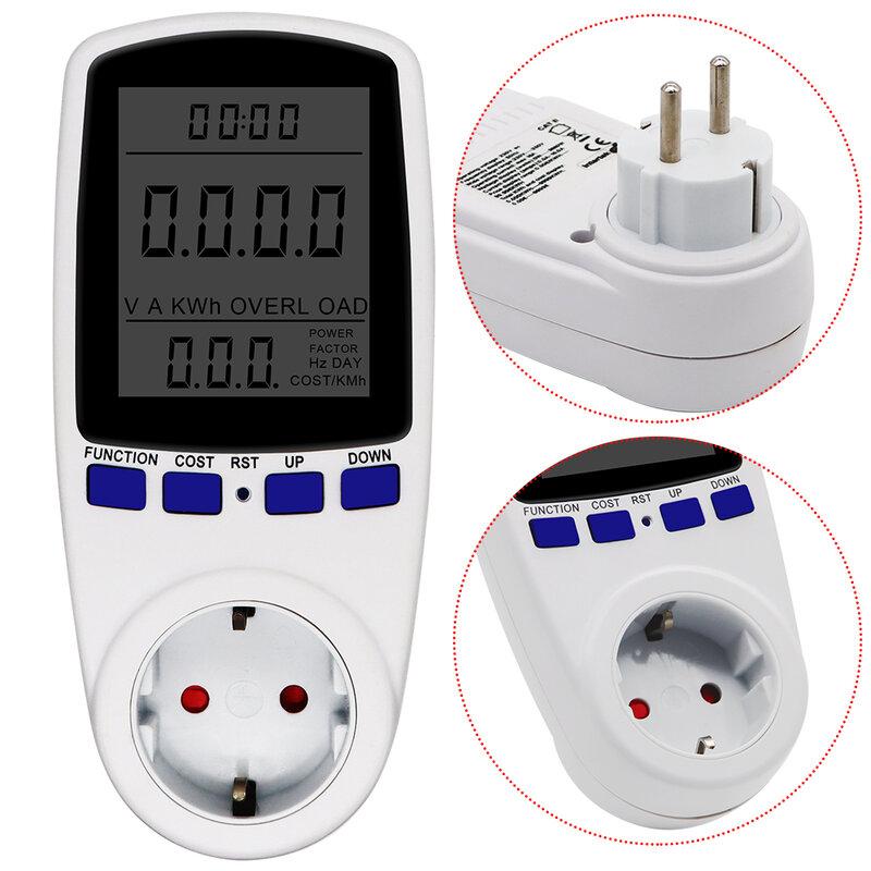 Power Meter EU Stecker Wattmeter Watt Monitor 230V 50HZ 16A digitale Mess Outlet Leistung Power Kwh Analyzer Energie meter