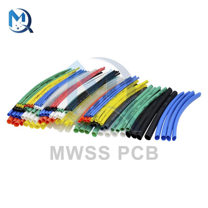 140Pcs 열 수축 튜브 튜빙 절연 자동차 전기 케이블 랩 슬리브 5 크기 7 색 폴리올레핀 전기 장치 부품