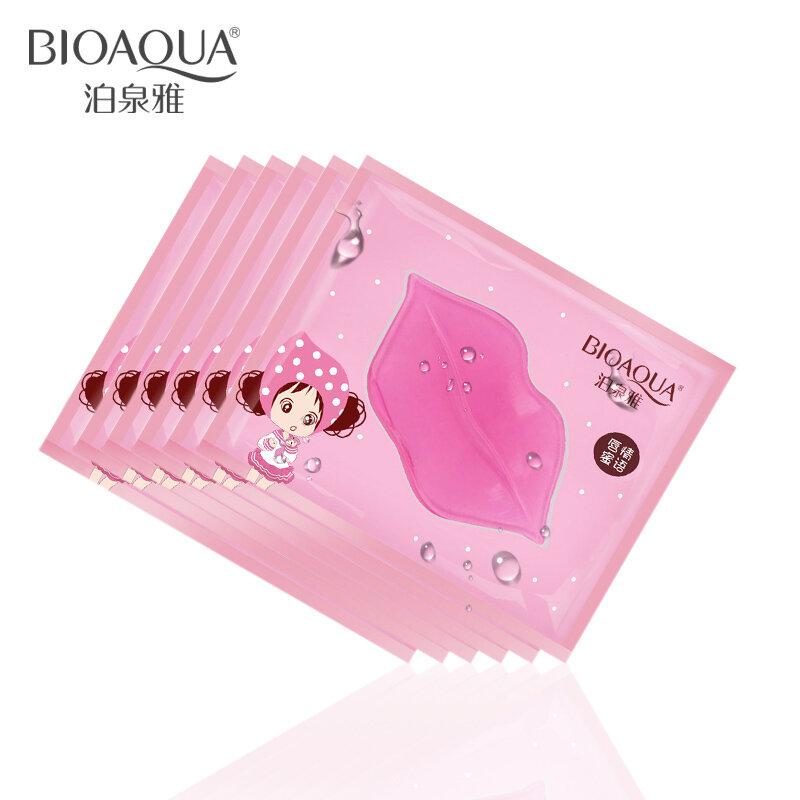 BIOAQUA-mascarilla de cristal para el cuidado de la piel, colágeno, esencia hidratante, almohadillas para el cuidado de los labios, parche antiarrugas, Gel para maquillaje, 10 Uds.