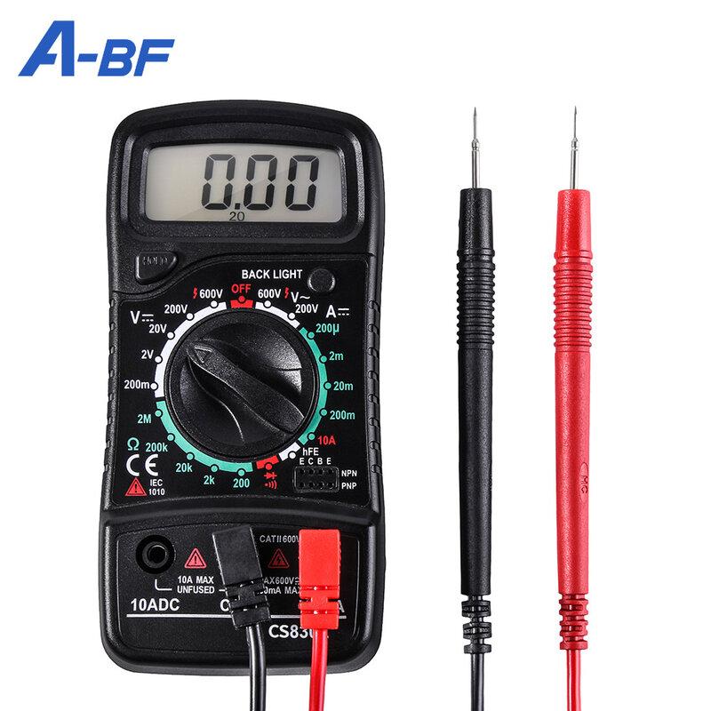 Digital-Multimeter Tester A-BF CS830L Voltmeter Amperemeter Widerstand Tester Ohmmeter Transistor Spitzen Hintergrundbeleuchtung Daten Halten Manuelle