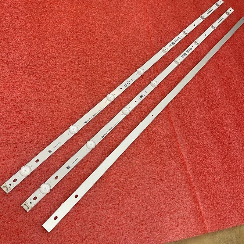 3 unids/set tira de LED para iluminación trasera para LG 43UH620V 43UH610T 43UH630V 43UH603V 43 V16.5 ART3 2744 6916L-2744A UHD 1 LC430DGE (FJ) (M2)