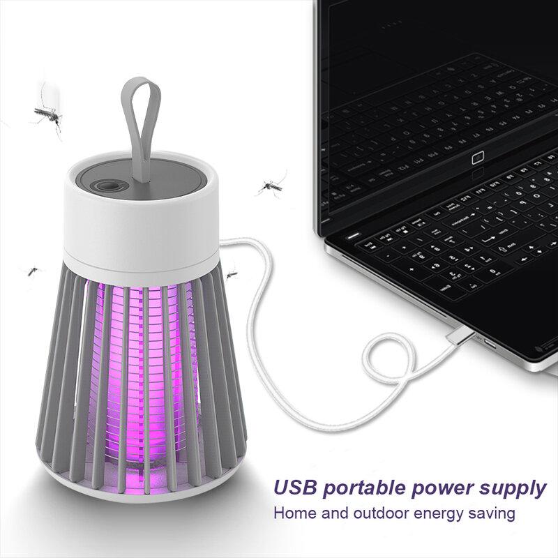 충전식 LED 모기 킬러 램프 곤충 빛 USB 해충 방제 램프 비행 버그 유인 보라색 빛 실내 야외 플라이 트랩