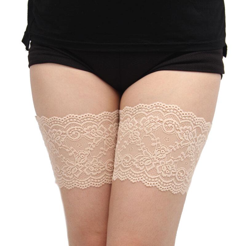 Bandas Elásticas antideslizantes para el muslo para mujer, tiras de encaje antifricción en 7 tamaños