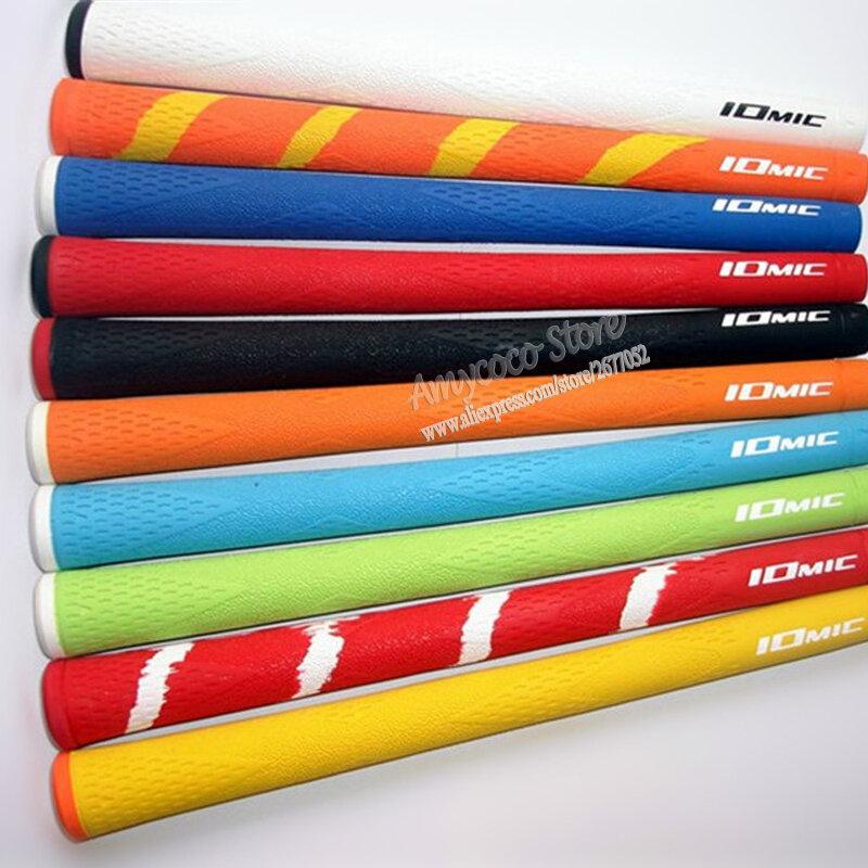 ใหม่กอล์ฟ Grips 10ชิ้น/ล็อตคุณภาพสูงยาง IOMIC Golf Irons Clubs Grips10สีเลือกจัดส่งฟรี