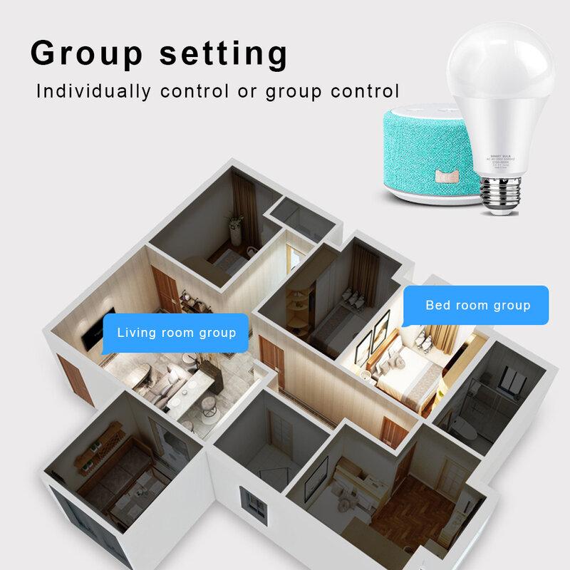 AVATTO Tuya 12W 15W WiFi 똑똑한 전구, 똑똑한 생활 app를 가진 E27 RGB LED 램프 Dimmable, Google 가정, alexa를위한 음성 통제