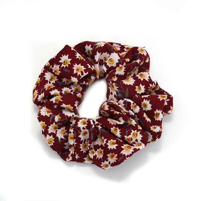 Brandy Plaid Hair Band Pork Intestine Ring Headband Hair Accessories Women's Net Red Hair Rope Ins Retro French Headdress Rubber