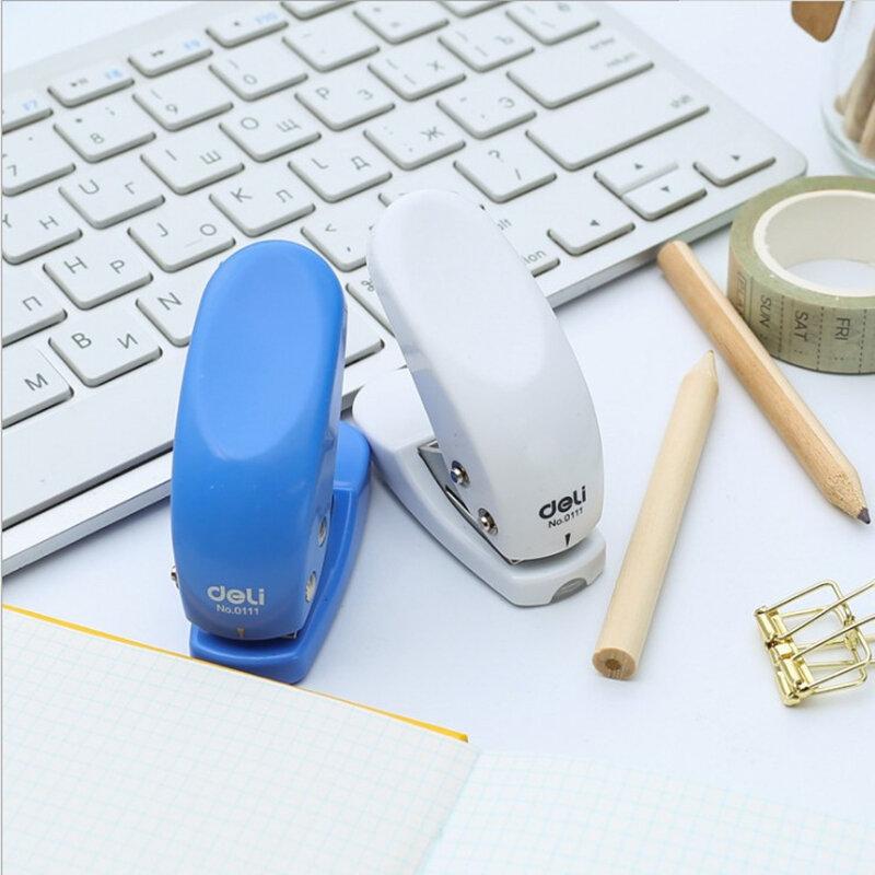 Perforadora de papel con diseño circular para niños y estudiantes, Mini perforadora de papel artesanal para tarjetas, álbum de recortes, papelería de oficina, 1 unidad