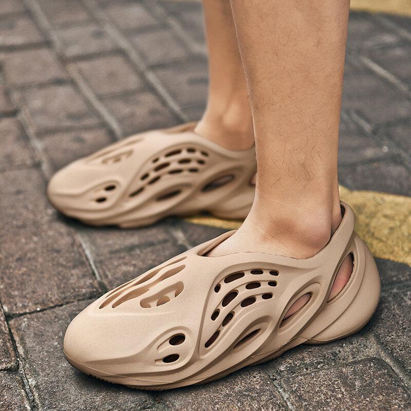 D'été Chaussures Décontractées Hommes Sandales Maille Douce Couple Plage Pantoufles Hommes Natation Sandale Mousse Coureurs Confort Tongs pantoufle