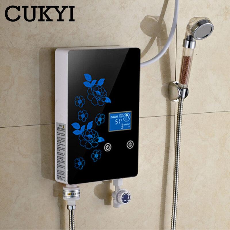 CUKYI – chauffe-eau électrique instantané, douche de bain, type thermique rapide, petit ménage, stockage gratuit