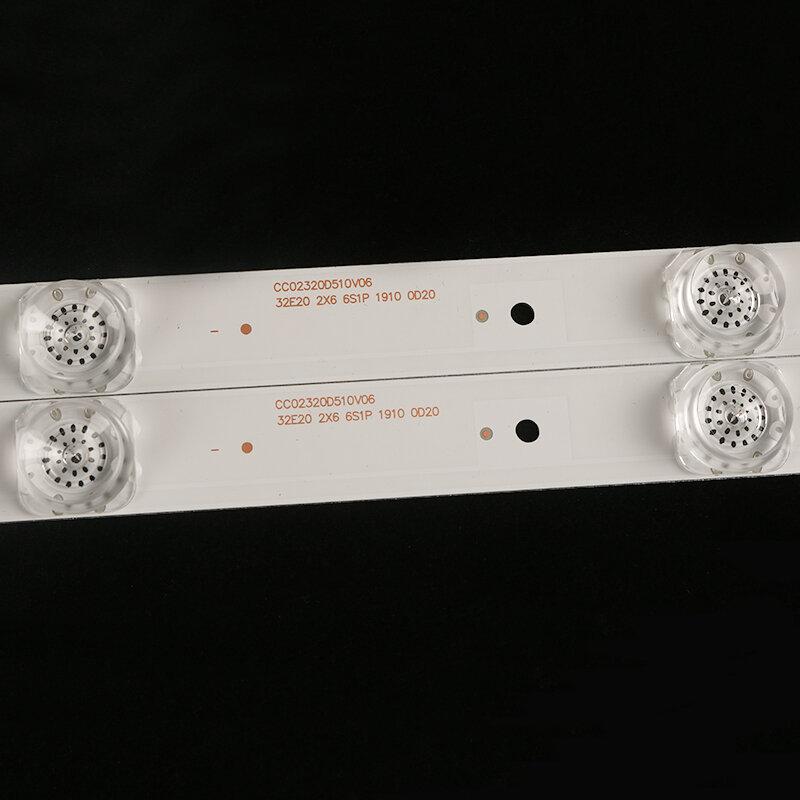 Retroiluminación led para MS-L2027 V1 HD-32R900 32 pulgadas CC02320D510V09 CC02320D510V06 1410 32E20 2X6 6S1P 0D20 5,0
