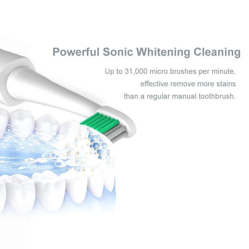 LANSUNG Ultra sonic Sonic Spazzolino Da Denti Elettrico Carica USB Ricaricabile Spazzolini Da Denti Con 4 Pcs Teste di Ricambio Timer Pennello