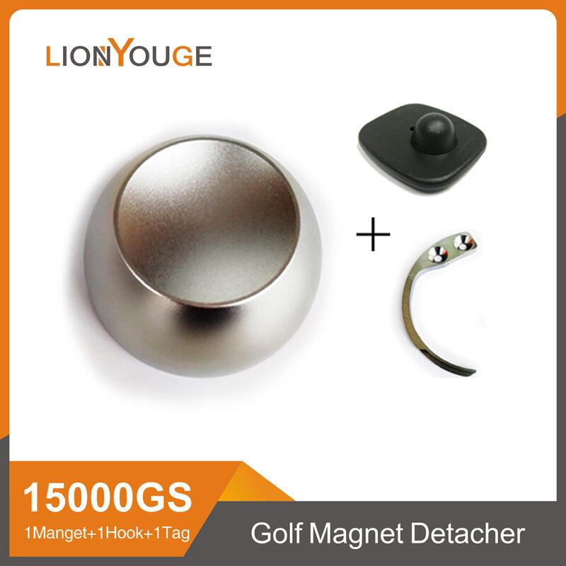 Original 15000GS EAS Magnetic Golf Detacher Tag Remover Universal แม่เหล็ก Eas Golf Detacher ความปลอดภัยกุญแจล็อค1 Hook 1: