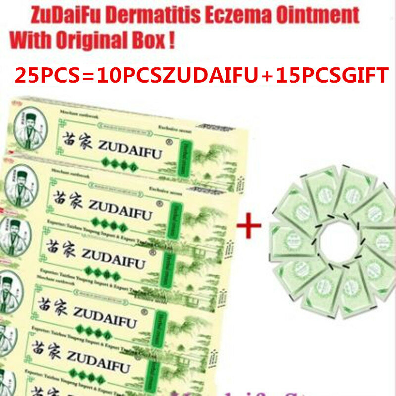 25PCS zudaifu yiganerjing Haut Psoriasis Creme Dermatitis Eczematoid Ekzeme Salbe Behandlung Psoriasis Creme Hautpflege Creme
