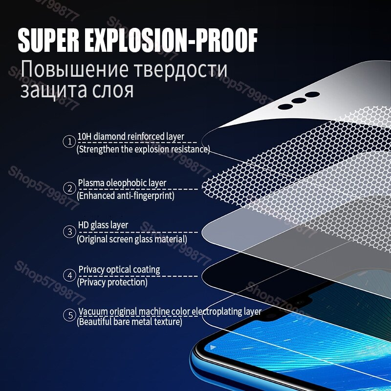 9D Protective Glass on For Huawei Honor 8X 8A 8C 8S 9A 9C 9S 9X Tempered Screen Protector Honor 10i 20i 20S Play Glass Film Case