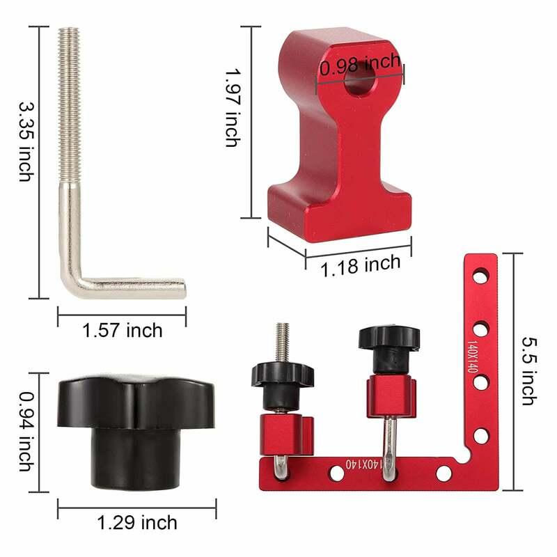 90 grad Rechtwinklig Schellen 5,5X5,5 Zoll Aluminium Legierung Für Holzbearbeitung Carpenter Ecke Platz Werkzeug Für Schränke Schubladen