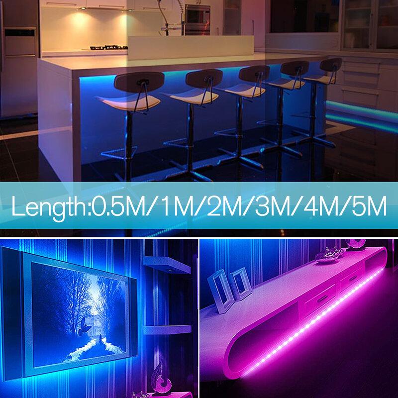 모션 센서 LED 빛 스트립 손 스윕 센서 Dimmable SMD2835 5V 2A USB TV 백라이트 주방 테이프 다이오드 밤 램프 0.5M - 5M