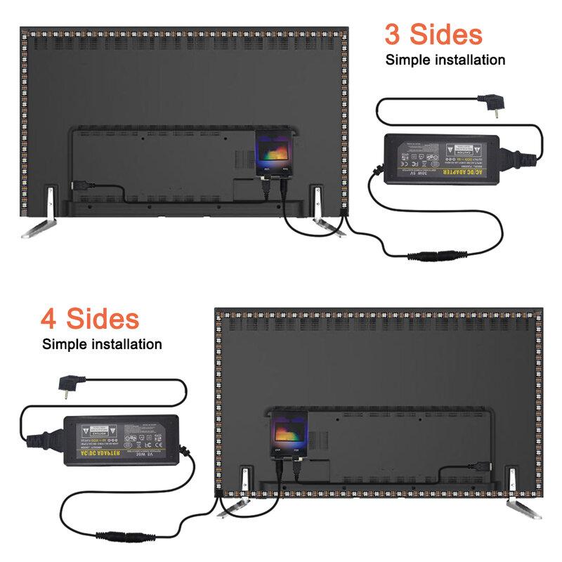 Pantalla de ensueño DIY para PC, Monitor de ordenador HDTV, tira LED USB WS2812b, Se completa, 1/2/3/4/5m, ambiental, Android TV, retroiluminación