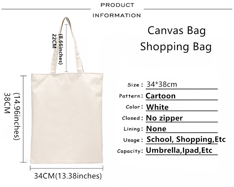 Gilmore Girls 그래픽 만화 인쇄 쇼핑 가방 소녀 패션 캐주얼 Pacakge 손 가방