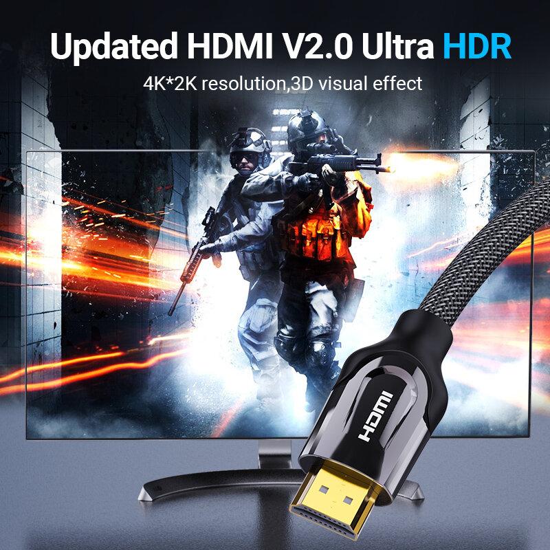 Vention كابل HDMI 4K/60HZ HDMI 2.0 الخائن كابل ل Mi Box HDTV HDMI 2.0 الصوت كابل التبديل محول ل شاومي PS4 كابل HDMI