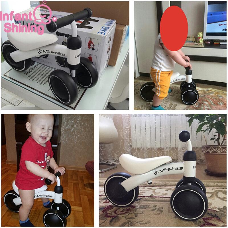 Infantile Brillante Del Bambino Bilanciamento Della Moto Camminatore Bambini Giro sul Giocattolo Regalo per 10-24 Mesi Per Bambini per L'apprendimento della Camminata scooter
