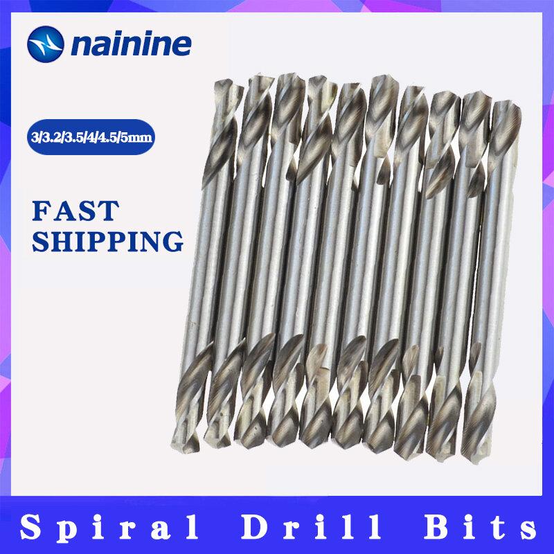 10Pcs 3/3.2/3.5/4/4.5/5mm HSS Doppio Attacco A Spirale Punte Twist Drill Tools Set Trasporto Libero B140