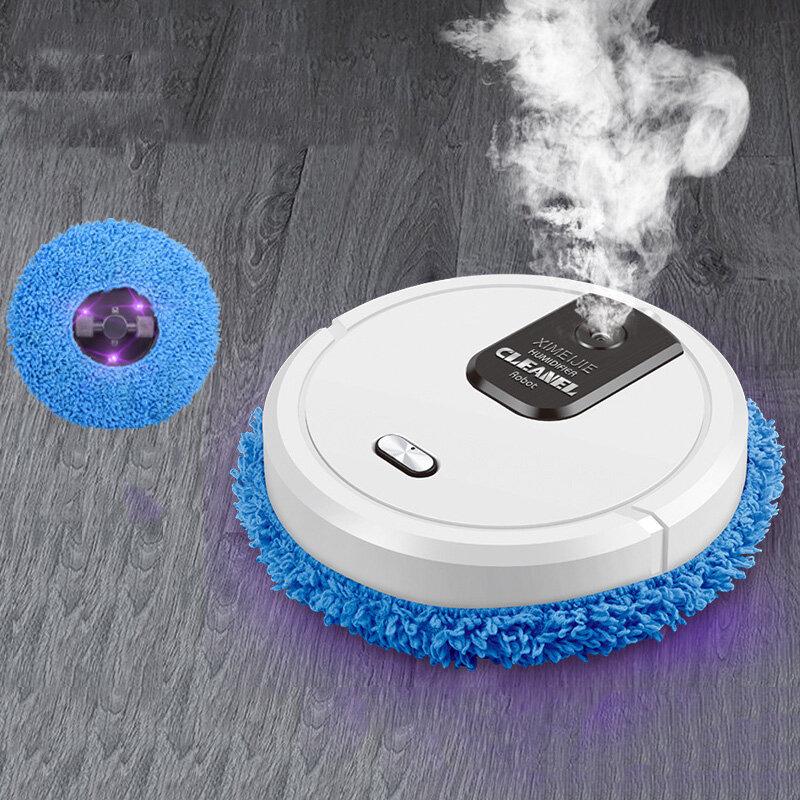 3-in-1 Robot spazzante automatico umidificazione Spray pigro casa asciutto macchina per la pulizia a umido aspirapolvere intelligente ricaricabile