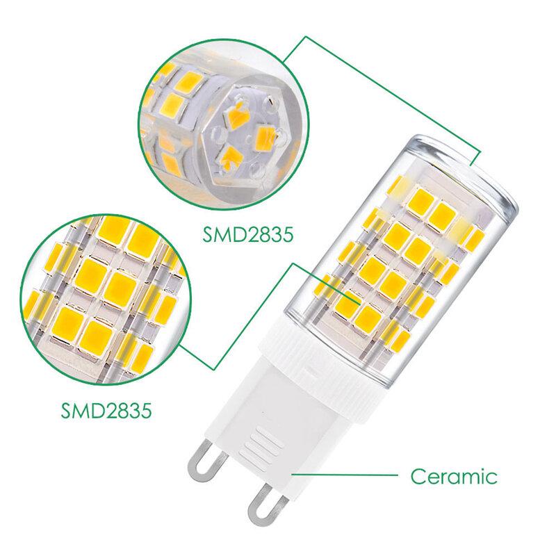 1-10X G9 bombilla led 5W 7W 9W 12W 15W 18W 220V 240V G9 lámpara led SMD2835 G9 bombilla LED tipo mazorca reemplazar W 30W 40W 50W 70W 80W luz halógena