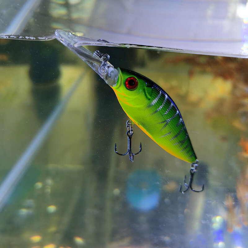 LINGYUE 1PCS Hard พลาสติก Minnow เหยื่อตกปลา 11 ซม.12g ช้า Wobblers ยาว Crankbaits Isca ประดิษฐ์เหยื่อ Pesca