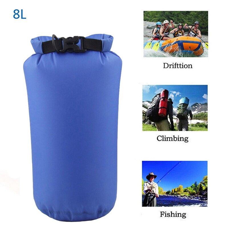 8L กระเป๋ากันน้ำกลางแจ้ง Camping Hiking กระเป๋าเป้สะพายหลังกระเป๋า