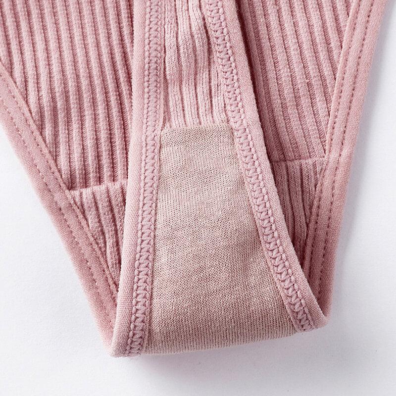 S-XL ผ้าฝ้ายกางเกงสุภาพสตรีเซ็กซี่กางเกงสุภาพสตรีขนาดใหญ่สุภาพสตรีทอง2ชิ้น/เซ็ตสีทึบกางเกง