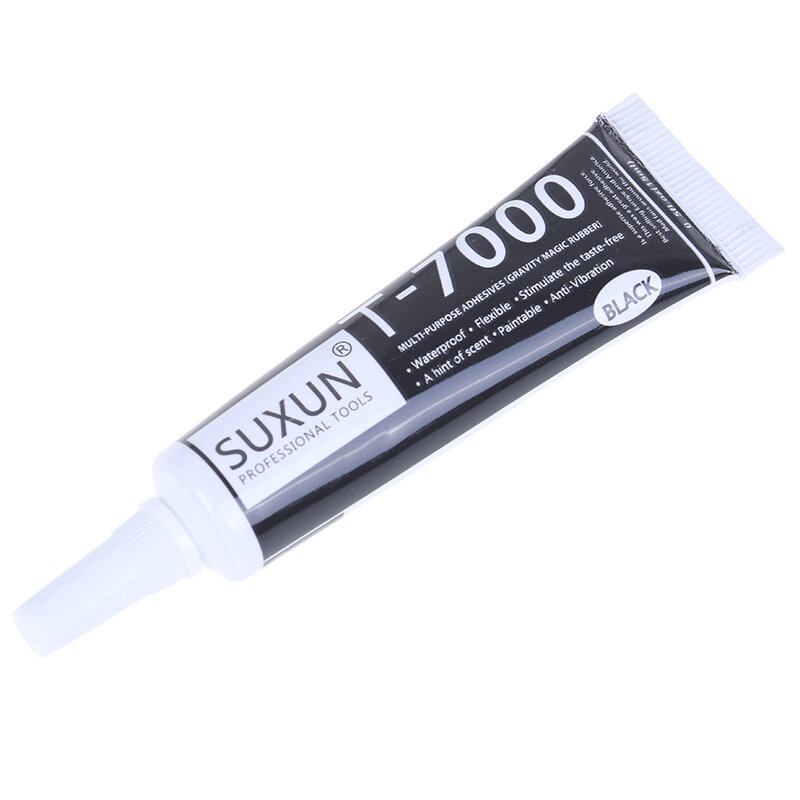 T-7000 Schwarz Körper Gummi Super Dichtstoff Handy Touchscreen Repa Epoxy Harz 1pc T7000 Super Schwarz 15ml flüssigkeit Kleber